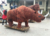 Outdoor Decoration High Simulation Realistic Statue , Animatronic Animal Models For Zoo