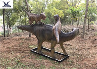 Life Size Animatronic Dinosaur Garden Ornaments Mother And Baby Garden Display