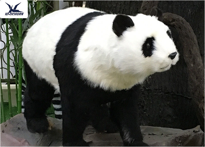 Theme Park Waterproof Life Size Panda Statue Animatronic Animal Model