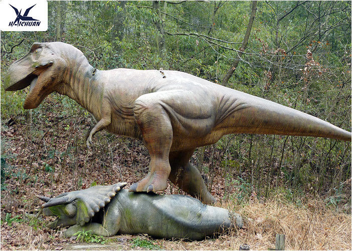 Realistic Simulated Life Size Model Dinosaurs With Abdominal Breathing
