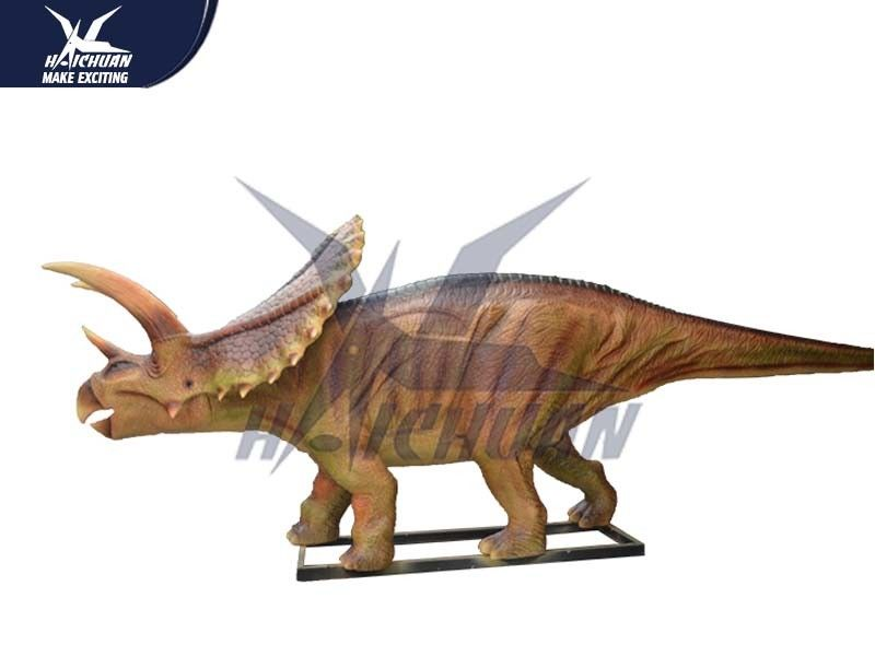 Robotic Waterproof Outdoor Dinosaur Statue In Park Equipment / Realistic Garden Animals