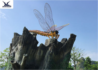 Cina Outdoor Realistic Lifesize Animatronic Animals Dragonfly Park Decoration Model pabrik
