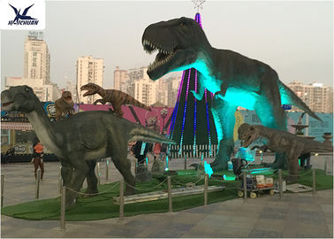 Animatronic Lifesize Mechanical Outdoor Dinosaur Dengan Cahaya 110 / 220V