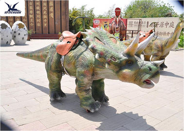 Cina 4 Meter Long Walking Ride On Dinosaur, Waralaba Dinosaurus Interaktif Besar 1 Tahun pabrik